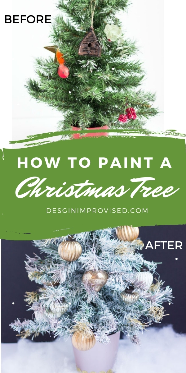 Thrifty Diy Spray Painted Christmas Tree Design Improvised
