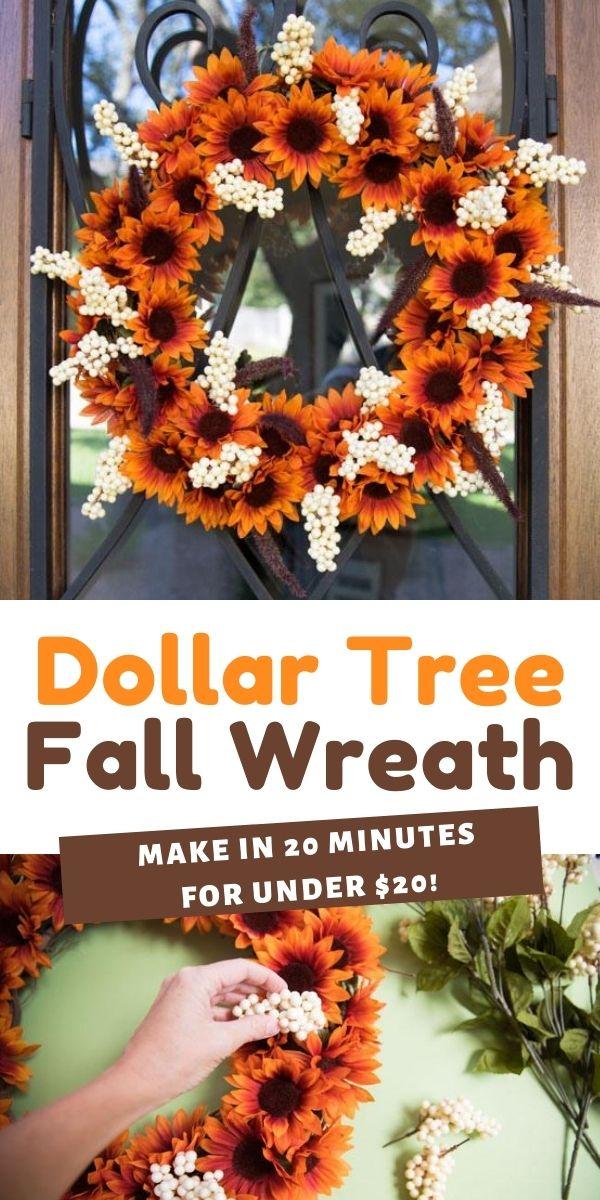 Easy Dollar Tree Fall Wreath Design Improvised